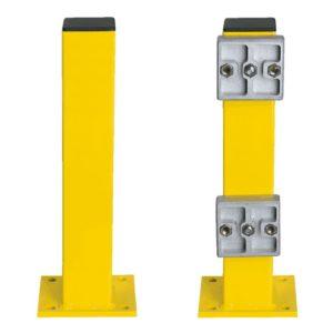 Rammschutzpfosten Vorder- und Rückseite für Geländer