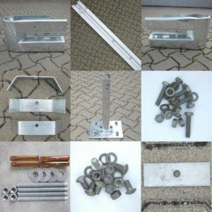 Wandmontage-Material für Leitplanken