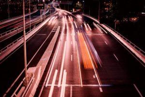 Leitplanken-Systeme auf der Autobahn