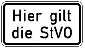 Gemäß StVo