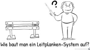 Aufbauanleitung für Leitplanken-System