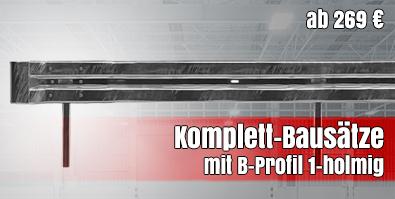Leitplanken Komplett-Bausätze mit B-Profil 1-holmig