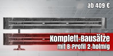 Leitplanken Komplett-Bausätze mit B-Profil 2-holmig