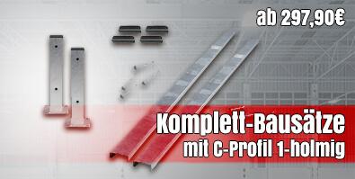 Leitplanken Komplett-Bausätze mit C-Profil