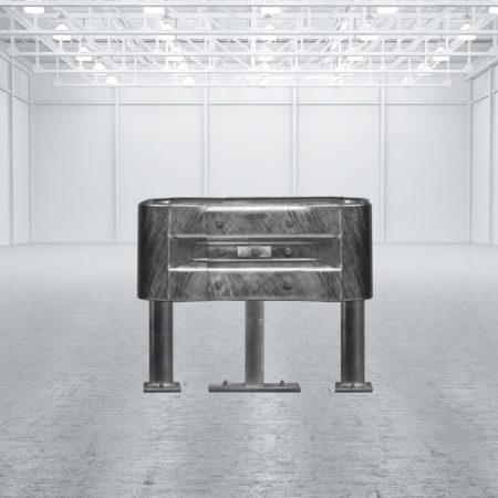 Säulenschutz-Komplett-Set, feuerverzinkter Stahl, für Säulen bis 30 x 30 cm